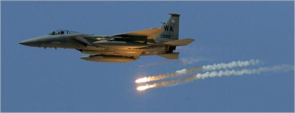 F-15 with ALE-45 Flare Dispense Active